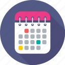 agenda, calendar, dollar, meeting, schedule icon