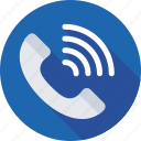 call, helpline, phone receiver, receiver, ringing icon