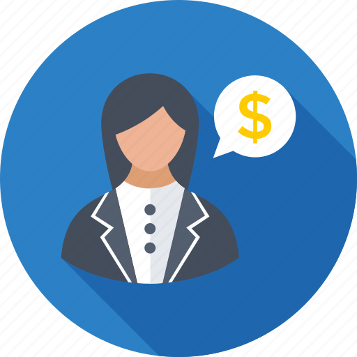 adviser, business consultant, chat bubble, dollar, legal adviser icon