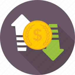 currency exchange, dollar exchange, dollar value, foreign exchange, money exchange icon