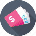card, dollar, dollar card, pass, ticket icon