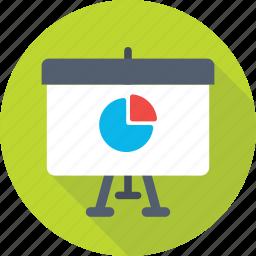 analytics, pie chart, presentation, statistics, training icon