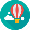 air balloon, business growth, cloud, investment, travel money icon