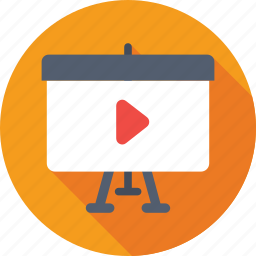 easl, media, multimedia, video presentation icon