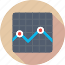 business chart, economy graph, financial chart, statistics icon