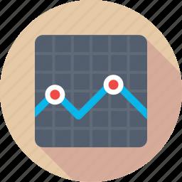 business chart, economy graph, financial chart, statistics icon