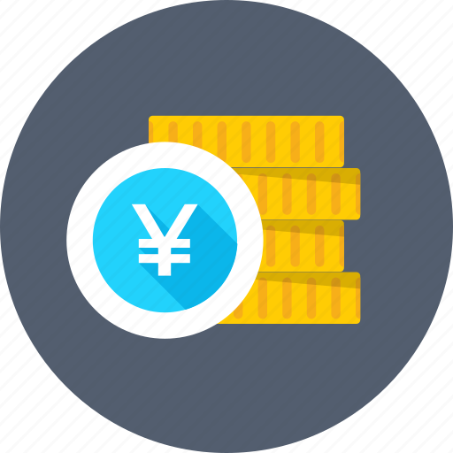coins, coins stack, currency coins, saving, yen coins icon