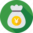 currency, finance, money bag, money sack, wealth icon