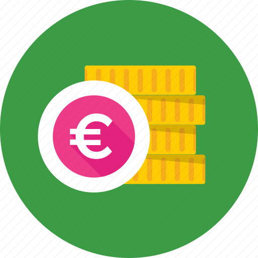 coins, coins stack, currency coins, euro coins, saving icon