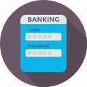 banking, login, padlock, password, security icon