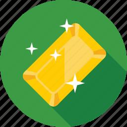 gold, gold brick, gold reserve, ingot, reserve icon