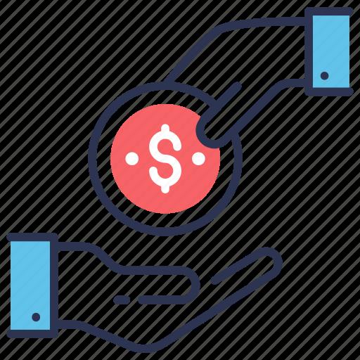 bribe, credit, finance, loan, money, mortgage, saving icon