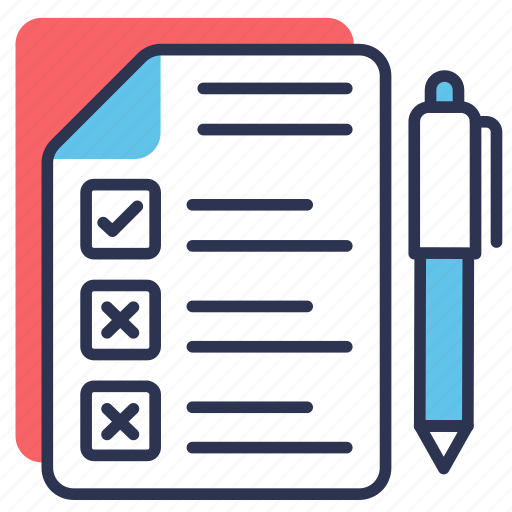 checklist, customer, customer survey, pen, questionnaire, test icon