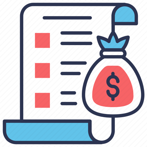 bag, budget, business, financial, money, plan, strategy icon