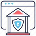 insurance, online banking, protection, secure, secure payment, security icon