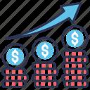 exchange, finance, growth, market, meney, stock icon