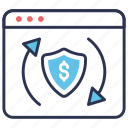 transactions, shopping, secure, ecommerce icon
