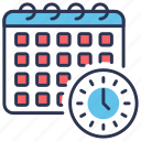 appointment, calendar, deadline, milestones, schedule, time icon