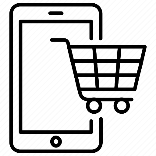 cart, commerce, m, mobile, shopping icon