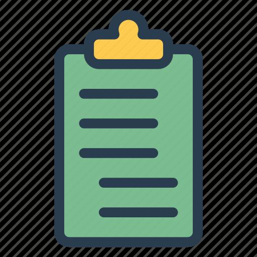 board, checklist, clipboard, document, list, notepad, report icon