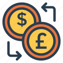 currency, dollar, exchange, finance, money, stockexchange, trade icon