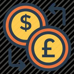 currency, dollar, exchange, finance, money, stockexchange, trade icon