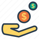 business, dollar, finance, income, money, profit, revenue icon
