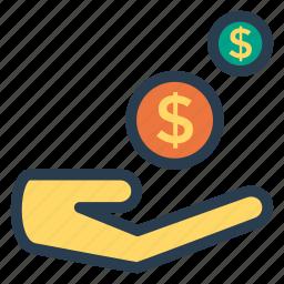 business, dollar, finance, income, money, profit, revenue icon