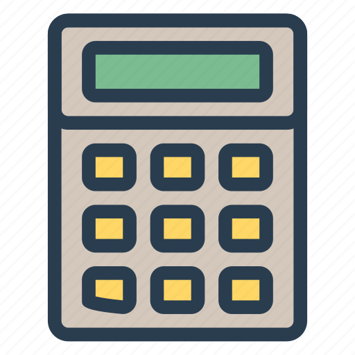 business, calculate, calculation, calculator, finance, math, tax icon