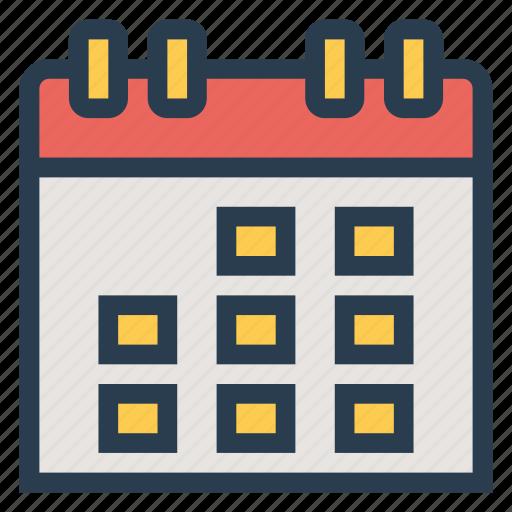 calendar, calendarpage, date, day, event, schedule, wallcalendar icon