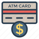 atm, card, casino, coin, credit, money, payment icon