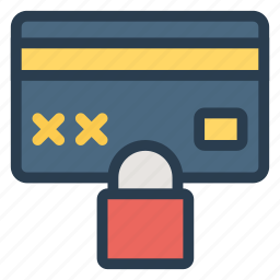 card, credit, creditcardlock, lock, payment, secure, security icon