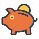 banking, business, cash, finance, money, piggybank, savings icon