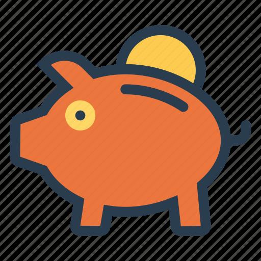 banking, business, cash, finance, money, piggybank, savings icon