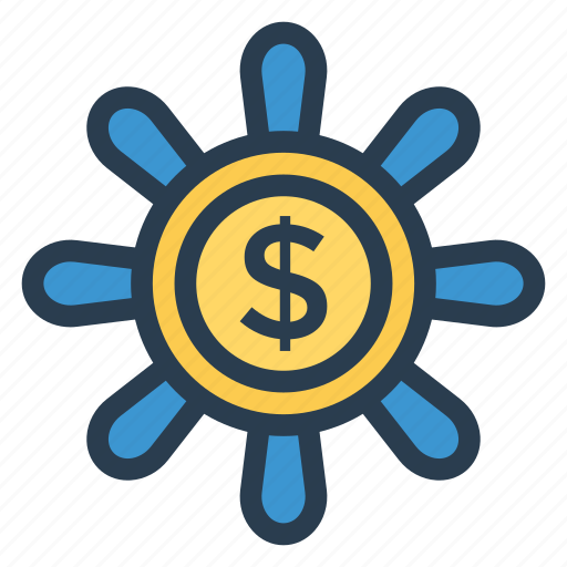 cash, coin, currency, finance, goldcoins, money, penny icon