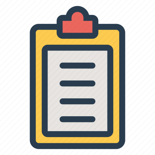 board, checklist, clipboard, document, list, notepad, report icon