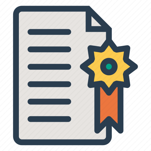 award, business, certificate, certified, degree, diploma, document icon