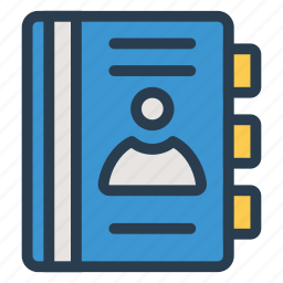 address, book, contact, diary, directory, phone, phonebook icon