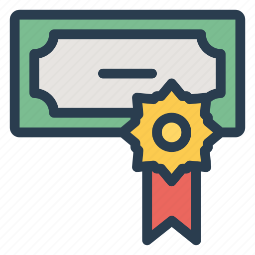 badge, business, currency, dollar, finance, money, ribbon icon