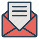 email, envelope, letter, message, open, openletter, openmail icon