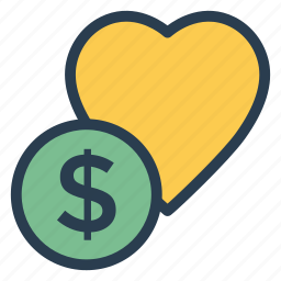 business, cash, coin, currency, favourite, finance, money icon