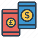 business, cash, currency, dollar, finance, money, transfer icon
