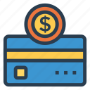cash, creditcard, currency, dollar, finance, money, moneyicon icon