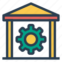bank, business, finance, gear, money, setting, settings icon