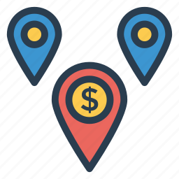 business, finance, gps, location, map, navigation, pin icon