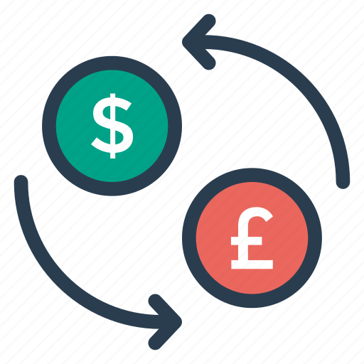 business, change, currency, dollar, exchange, finance, money icon