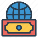 business, cash, currency, dollar, finance, global, money icon