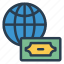 blobal, currency, dollar, finance, international, money, national icon