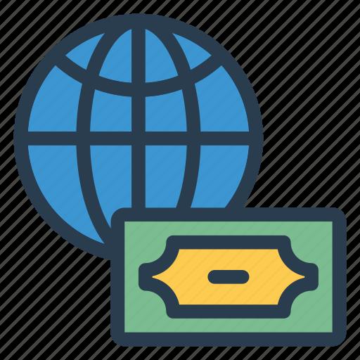 blobal, currency, dollar, finance, international, money, national icon