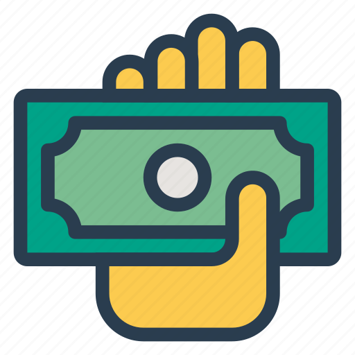 business, cash, currency, dollar, finance, gesture, money icon